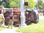 Overturned SUV at NW 16th Avenue & Pennsylvania