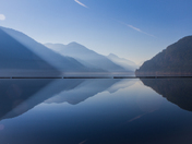 Misty Blue Reflection