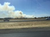 Fire on 65 freeway in Rocklin