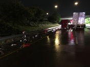 Semi truck accident on I-75 north