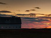 Sunset over the farm stretch, Blacks Harbour, NB