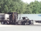 Truck fire in Wildwood