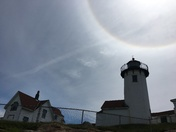 Solar halo over Eastern light house