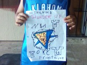 My son Trevon (6 years old) just graduated Kindergarten & he is a big Thunder fa