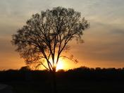 Sunset on Lower Falls Rd between Sheboygan and Kohler