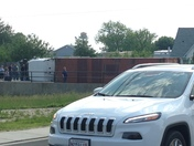 Tractor trailer over turned dundulk