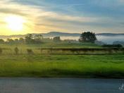 Early morning sunrise on I-91 North (near Hartland/Windsor Exit)