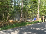 Brush fire on Emmons Road in Kennebunk