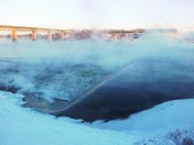 South Saskatchewan River Steaming Through Saskatoon
