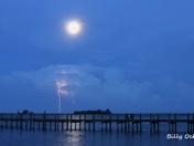 Lightning with Full Moon
