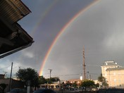 Double rainbow Santa Fe Railyard 6-4-2016