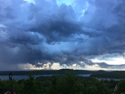Storms moving across Lake Winnipesaukee