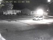 fire on east dunham avenue at 1:40 am captured by home security cam