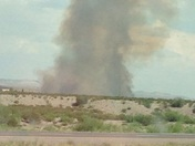 Fire at Escondida tracked driving south from Albuquerque thru to Socorro