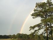 Rainbow on the reservoir
