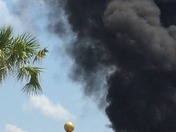 Fire at a commercial area on International Drive, Behind Anice Inn Hotel