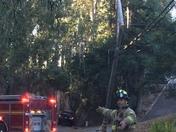Car crash into power pole
