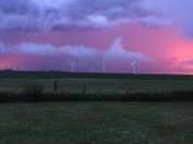 Sunset and storms.