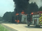 Truck fire on I-95