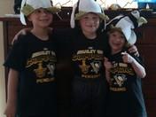 Triplets love the Penguins !
