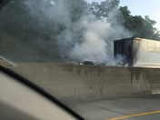 Semi truck fire on 75N