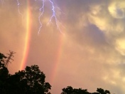 Double Rainbow and lightening bolt