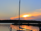 Sailboat Sunset @ Big Creek Lake