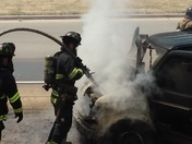 I43 at Becher st. vehicle fire