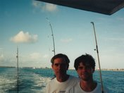 Dave Nusz, my father, and me Greg Nusz going fishing off the coast of Key West.