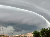 The storm coming in at the fairgrounds.