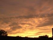 Orange glow sunset