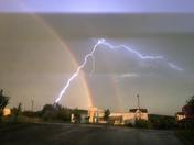 Rainbow with lightening, Harrisonburg VA