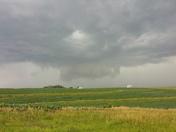 Wall cloud near Emerson, IA