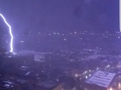 Lighting striking the nola police department
