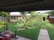 Wind damage in Taloga