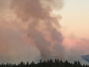 Trail fire near Foresthill