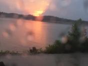 Rainy Sunset over Beaver Lake