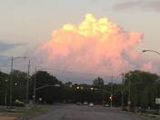 Gorgeous clouds tonight over PV