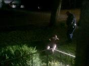 Naked drugged man breaks in