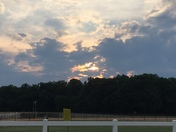 Sunset at the Ivey M. Redmon Sports Complex in Kernersville, July 2