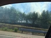 Rt 3 brush fire