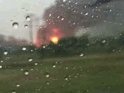 Huge oil fire on Creek Turnpike