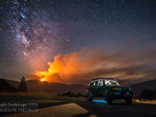 Trailhead Fire under the Milkyway