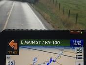 ky-101 semi flip over road shotdown