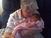 Great grandmother and great grand daughter