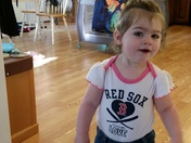 Anabelle loves the Red Sox!