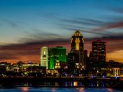 Sunset over Des Moines