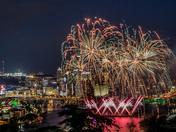 Bicentennial Fireworks Over Pittsburgh