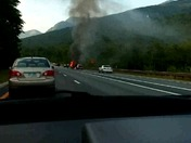 Franconia Notch Truck Fire with small explosions 7/13/16 6:00PM