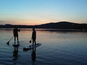 Evening paddle With North Country Paddle on Back Lake Pittsburg NH